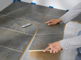 ламинат под плитку на кухню