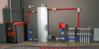 Тёплый пол водяной от газового котла в доме