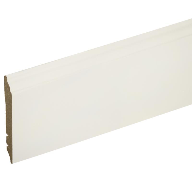 Плинтус напольный МДФ 105 мм 2.5 м цвет белый